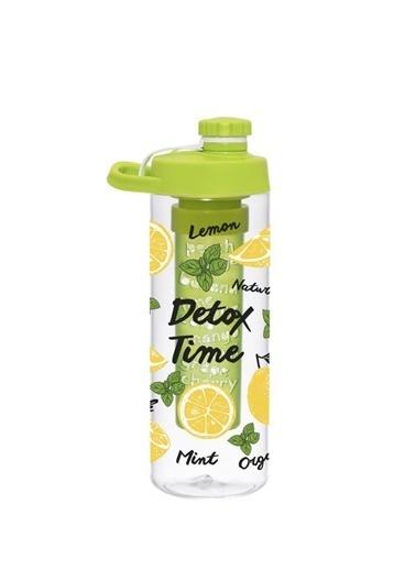 Herevin Infuserli Limon Desen Detox Matara 650 ml Renkli